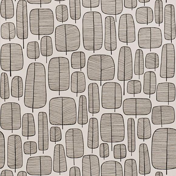 Les 25 meilleures id es de la cat gorie motif scandinave sur pinterest art populaire - Papier peint graphique noir et blanc ...