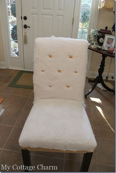 how to diamond tuft and upholster a chair