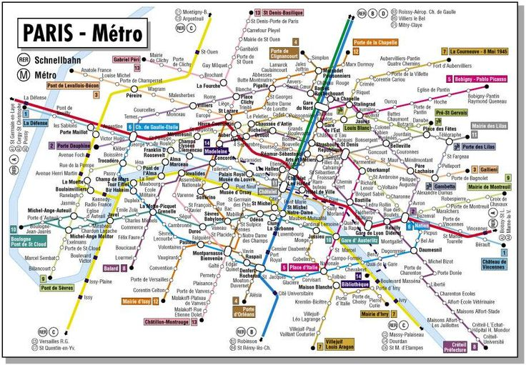 Interactive Paris Metro Map In ...