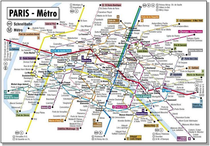 Metro Paris Map English
