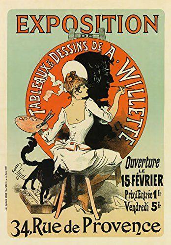AP28 Vintage French Art Exhibition A. Willette