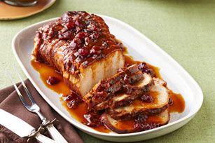 Rôti de porc aux canneberges et à l'orange à la mijoteuse