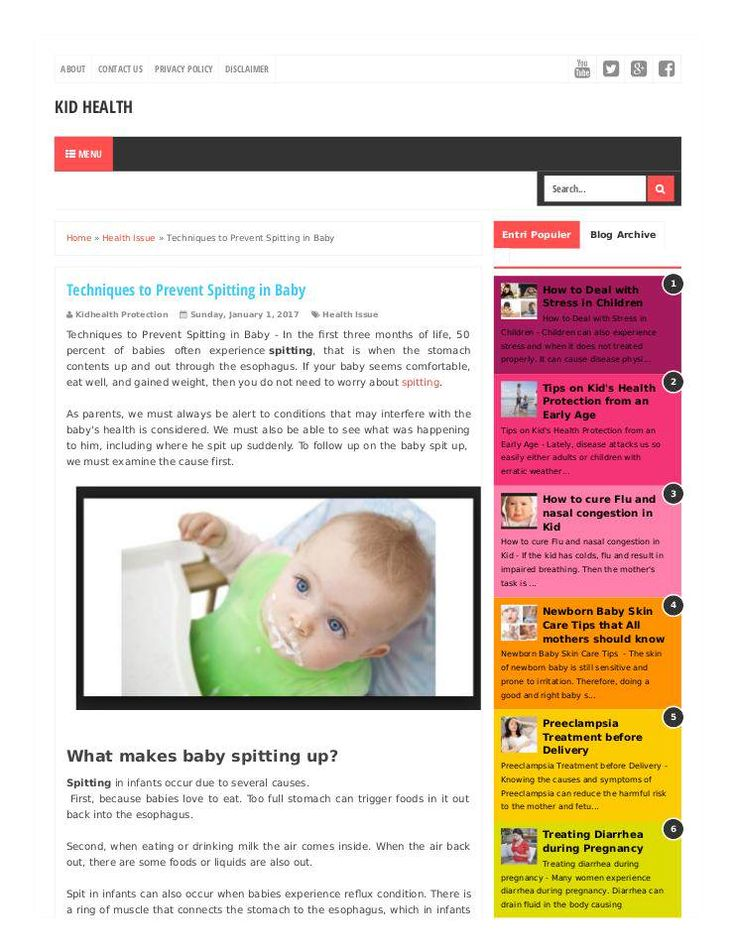 """Techniques to Prevent Spitting in Baby"" published by @Ihsanumraity on @edocr"