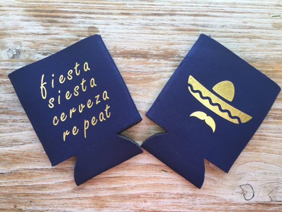 Cerveza Can Koozies Mexican Wedding can koozies by EverlongEvents