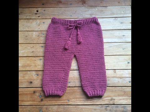 Tutoriel crochet : pantalon bébé / pantalon bebe a crochet facil - YouTube