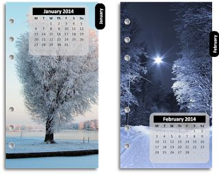 FREE Printable: Jan-Dec photographic Monthly dividers for your Filofax to download and make these prmade have calanders for 2014