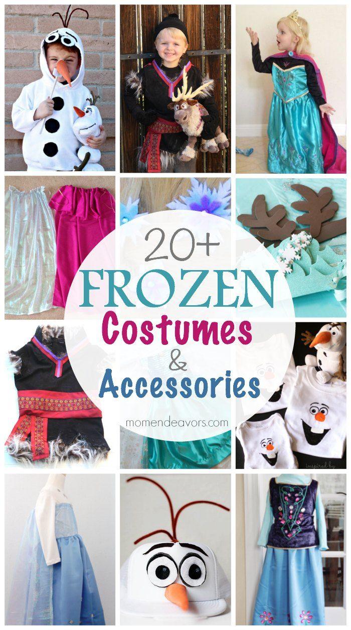 20+ DIY Disney Frozen Costumes & Accessories - Great list! #Disney #Frozen