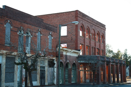 Shamrock Hotel, Blackville, SC built in 1912. Originally used as a hotel and gathering place during its heyday, now in need of restoration.