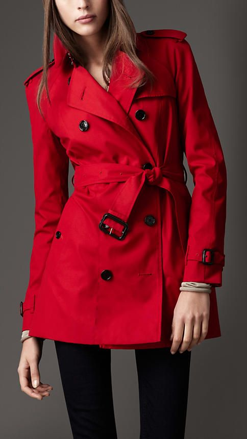 Short Technical Cotton Trench Coat | Burberry