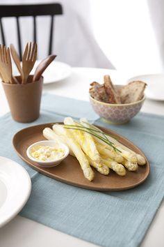 Asperges blanche sauce mascarpone & citron #recette #asperge #citron #facile