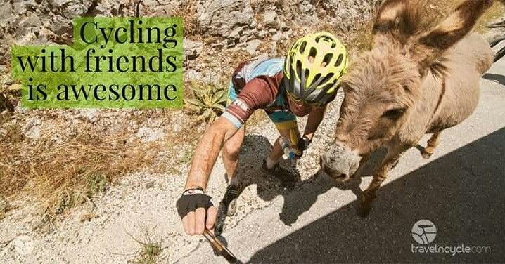 Cycling with friends is awesome!