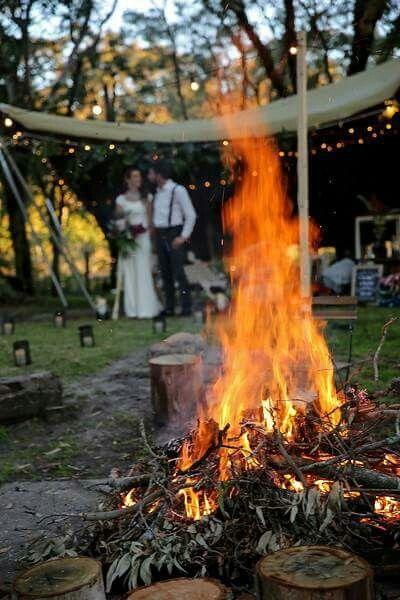 Bonfire. Bush. Trees. Love. Wedding. #wedding #weddinginspiration #weddinginspo #eventhire #eventstyling #festoon #lighting #magical #creative #enchanted #outdoorwedding #bride #bridal #love #soulmates #romantic #bushwedding #nature #tree #treelove #bohemian #boho #rustic #vintage #newlyweds #forest #lit #unique #earthy #sustainable