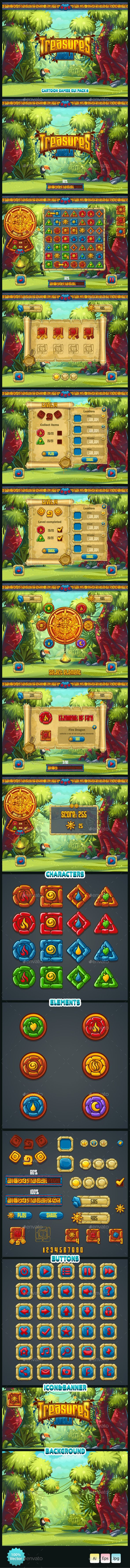 Jungle Treasures GUI. (User Interfaces)