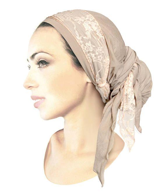 Mejores 9 imágenes de tichel en Pinterest | Cubiertas para la cabeza ...
