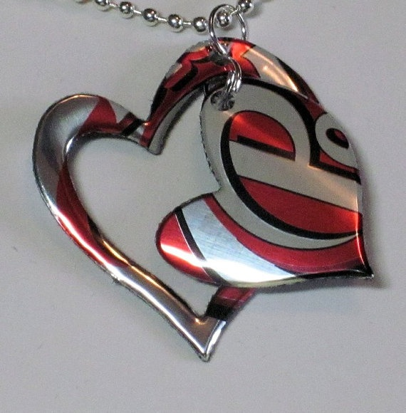 Dr Pepper Heart Necklace Handmade from by heavensentcrafts on Etsy, $5 ...