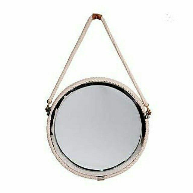 1000 images about espejos decorativos on pinterest grey for Espejo redondo cuerda