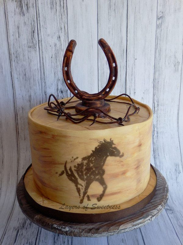 Western theme cake