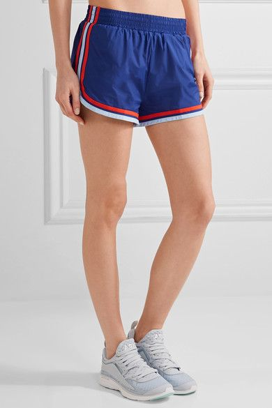 Tory Sport - Striped Shell Shorts - Storm blue -
