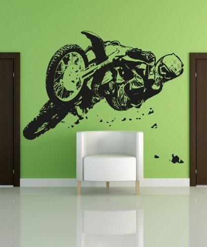 Vinyl wall decal sticker motocross riding os aa196b by - Bac a vinyl ...