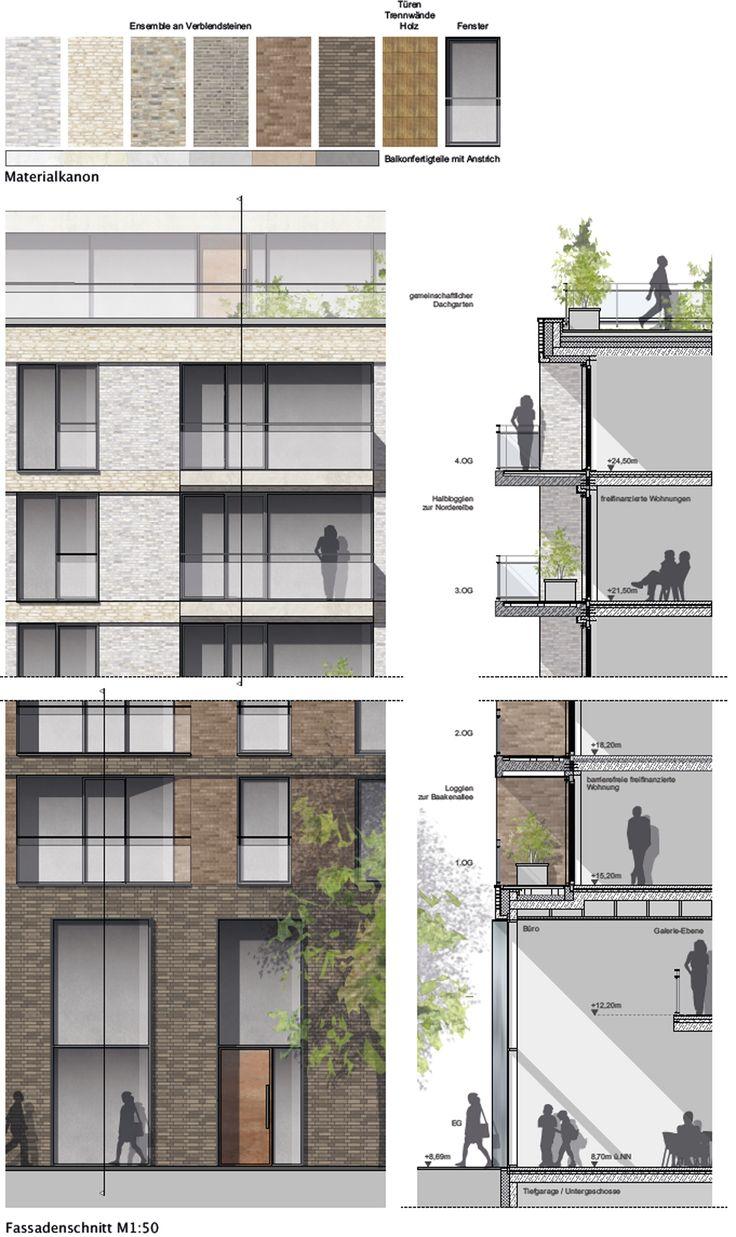 An interesting concept regarding materiality from other architecture firm. Materialität Fassade, © LRW Architekten