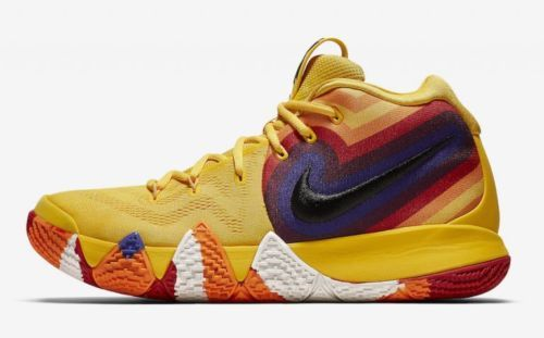 42a2ef2412f431 Nike Kyrie Irving 4 70s Yellow Orange Blue 943807-700 Mens   Kids GS Uncle  Drew