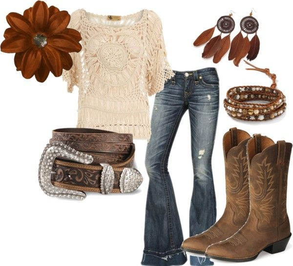 """Thanksgiving ~ Country"" by rinergirl on Polyvore. Love the touch of bohemian hippy mixed with cowgirl."