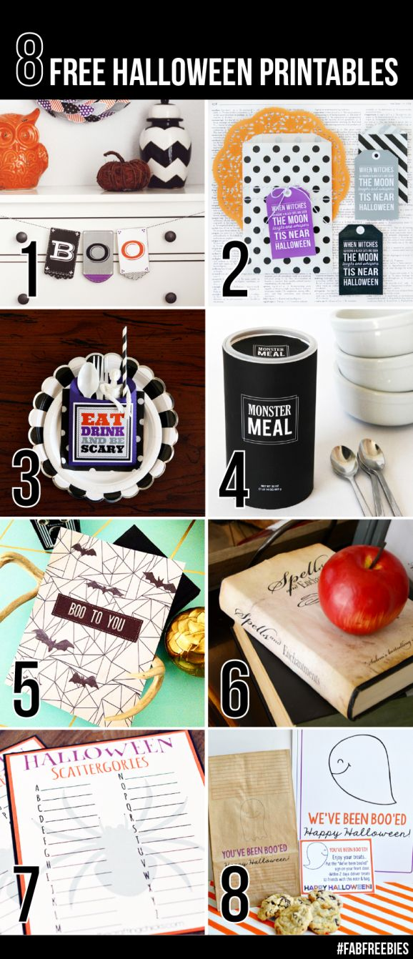 Great Neighbor Gift Ideas and other Free Prinatbles for Halloween from @PagingSupermom #FabFreebies