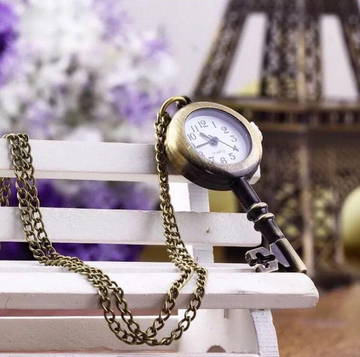 Retro Vintage Pocket Key-shaped Watch Necklace
