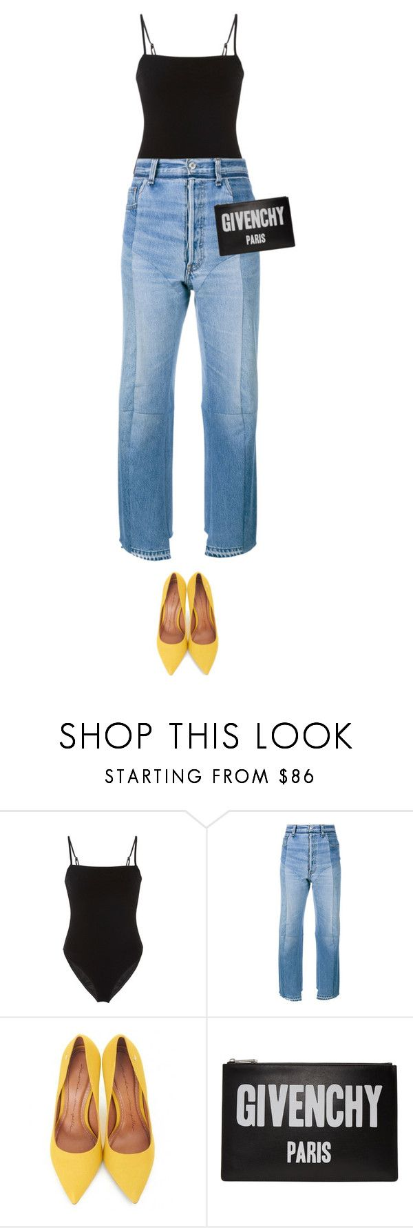 """""""How To Style: Yellow Pumps"""" by kydajenner ❤ liked on Polyvore featuring Fleur du Mal, Vetements, Moda In Pelle, Givenchy, StreetStyle, edgy and pump"""