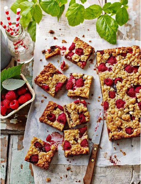 Chocolate, raspberry and roasted hazelnut oaties - perfect for a picnic