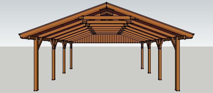 les 25 meilleures id es concernant carport selber bauen. Black Bedroom Furniture Sets. Home Design Ideas