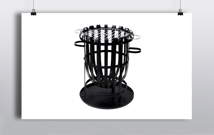 Black Steel Fire Pits (56cmx40cm) for outdoor use, can be used as focal points & to add warmth & ambiance to your party/event. http://www.prophouse.ie/portfolio/fire-baskets/