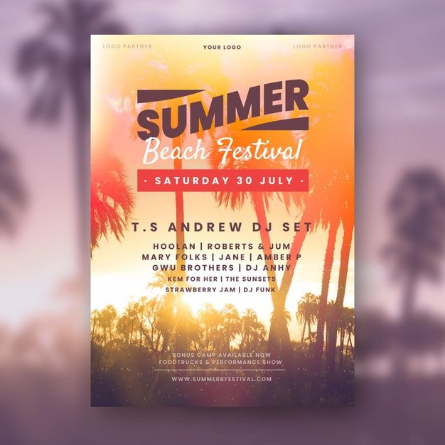 Download Summer Party Poster Template With Photo For Free Poster Template Party Poster Summer Sale Banner