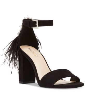 a10c3914f Nine West Aaronita Feather Dress Sandals
