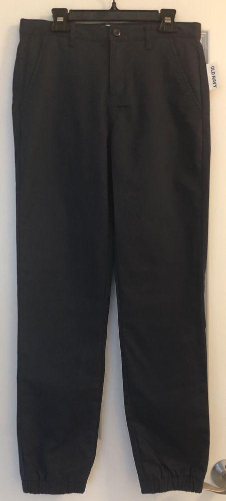 Old Navy Pants Size 16 Navy Blue Boys Jogger Flat Front Adjustable Waist New NWT #OldNavy #KhakisChinos #DressyEverydayHoliday