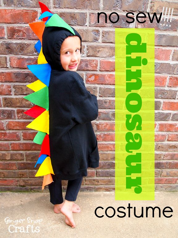 no sew dinosaur costumes for children #gingersnapcrafts #tutorial