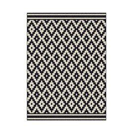 Tapis Losange noir et blanc 120 x 170 cm