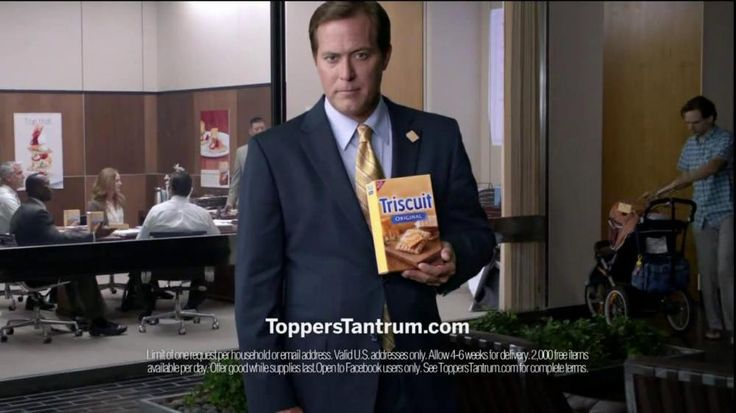 A man angrily walks into a meeting with a box of Triscuits and begins ranting about the unnecesary toppings. There's no need for flavors on the crackers because they already taste so great. A man then apologizes for the inconvenience