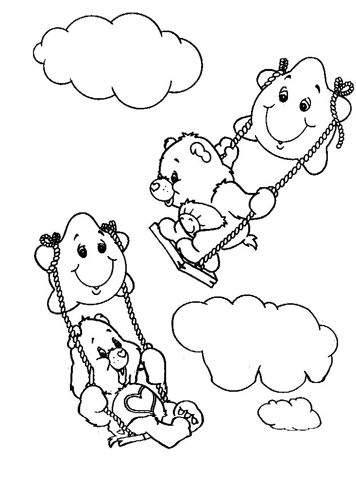 The Care Bears coloring pages to print!