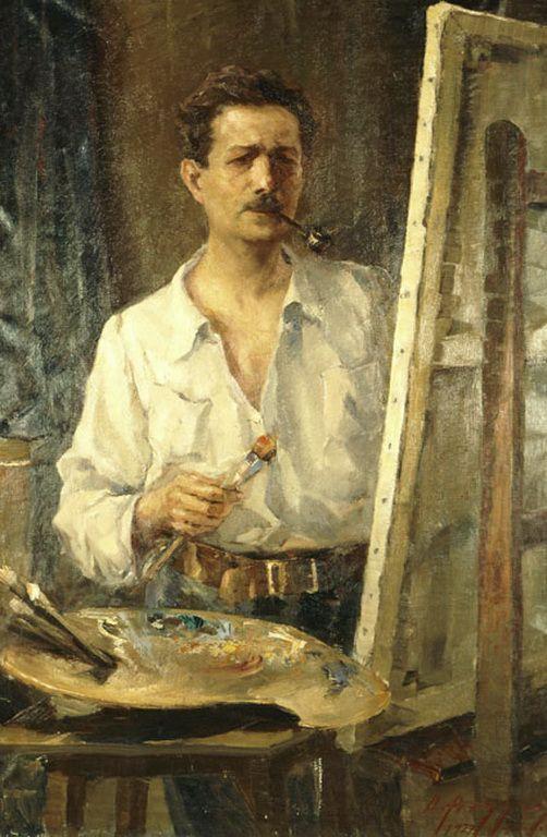 Αργυρός Ουμβέρτος-Αυτοπροσωπογραφία, 1917
