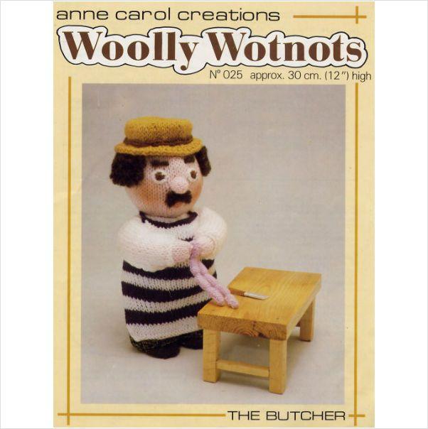 Wooly wotnots the butcher pattern on eBid United Kingdom. £1.99