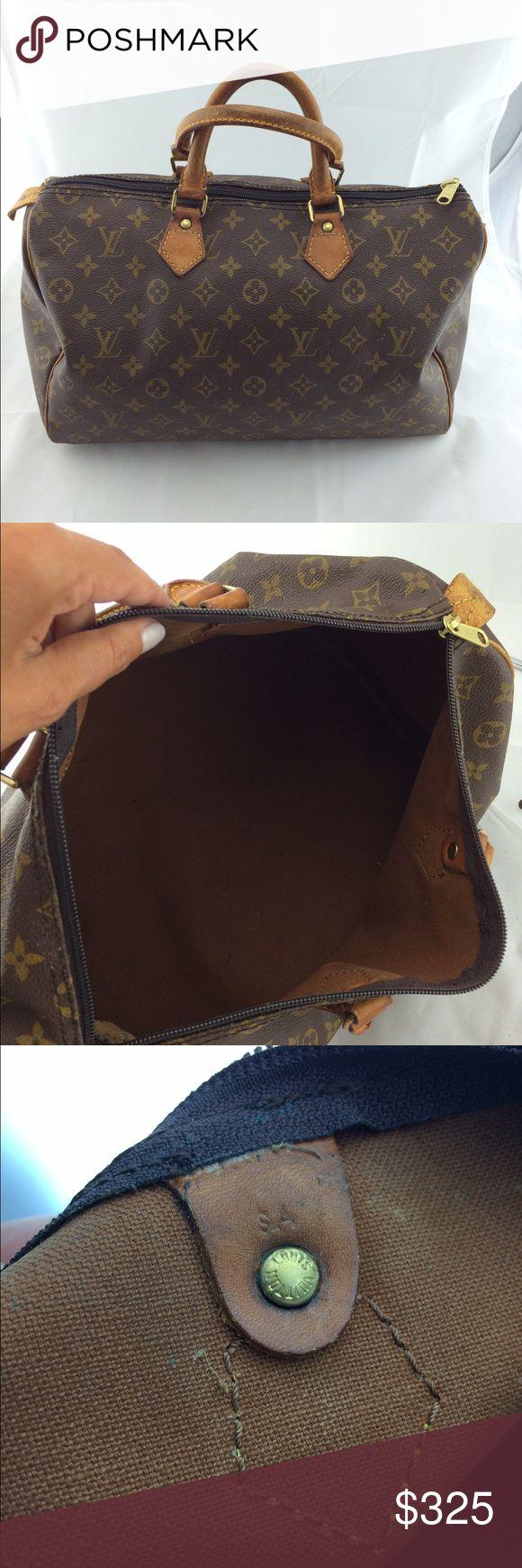 Authentic Louis Vuitton speedy 35 Vintage.just replaced zipper .100% authentic.no trades Louis Vuitton Bags Totes