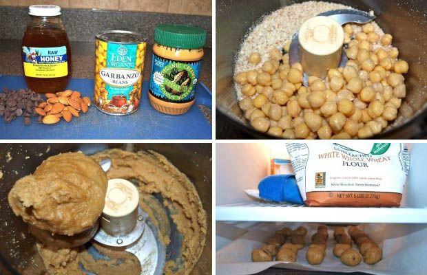 Recept na cizrnové guličky, bohaté na bielkoviny postup