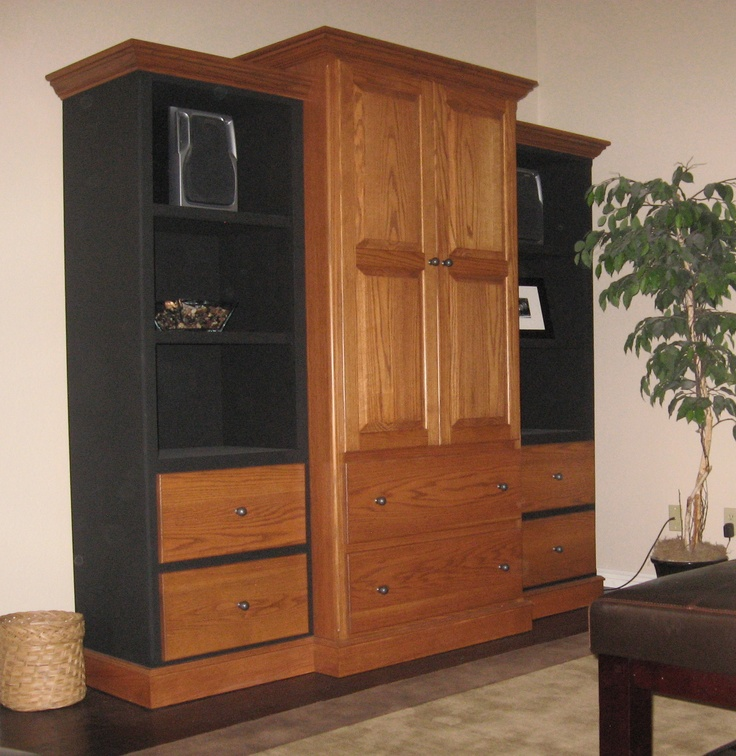 entertainment center my husband made for our bedroom diy furnishings pinterest my husband. Black Bedroom Furniture Sets. Home Design Ideas