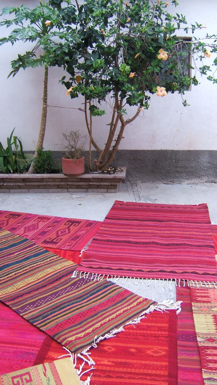 Oaxaca is famed for, among other things, its stunning handwoven rugs, which are still made with natural dyes such as cochineal and indigo.