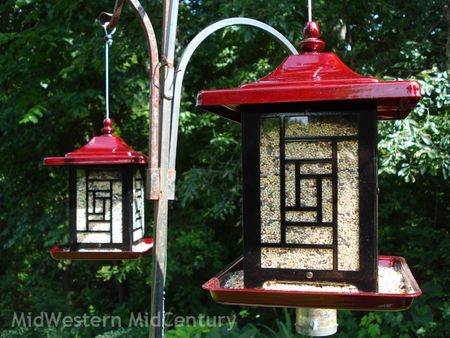 Asian styled bird feeders