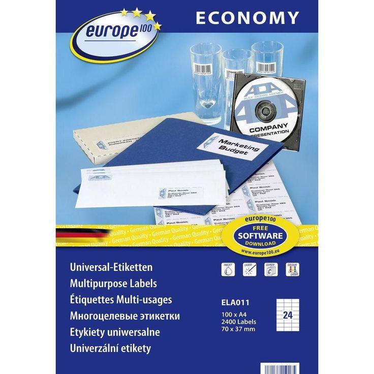 universal etiketten europe 100 ela011  24 etiketten auf