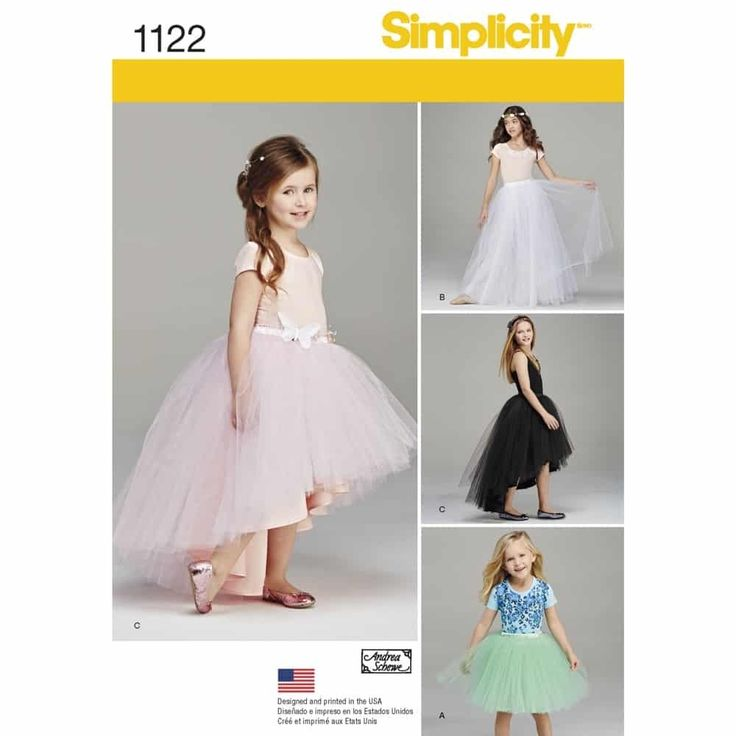 Simplicity Sewing Pattern 1122 Child's and Girls' Tulle Skirts