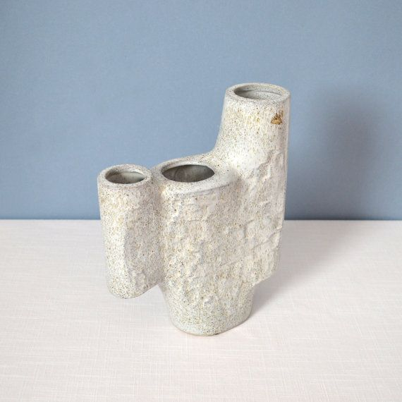 Vintage Signed Asymmetrical Ikebana Vase by MidModMomStore on Etsy, $150.00