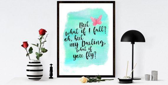 What If You Fly Quote  What if I Fall Quote  by MINTablePrintables